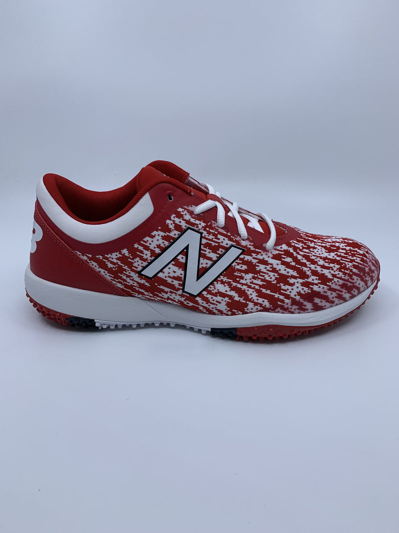 New Balance Men's T4040v5 Baseball and Softball Turf: Team Red with Fast Free Shipping