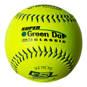 "Worth 11"" GSL Super Green Dot Classic W Composite Softballs (Dozen): UC11CYG"
