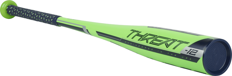 Angled Threat View: Rawlings Threat USA Baseball Bat Reviews at headbangersports.com