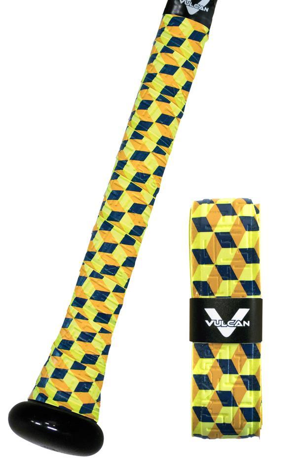 Daybreak Uncommon Series Black and Yellow Bat Grip at headbangersports.com
