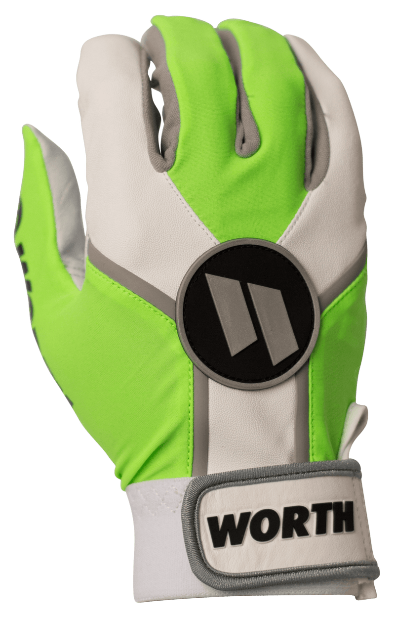 Worth Team Batting Gloves - WBATGL-NG at headbangersports.com