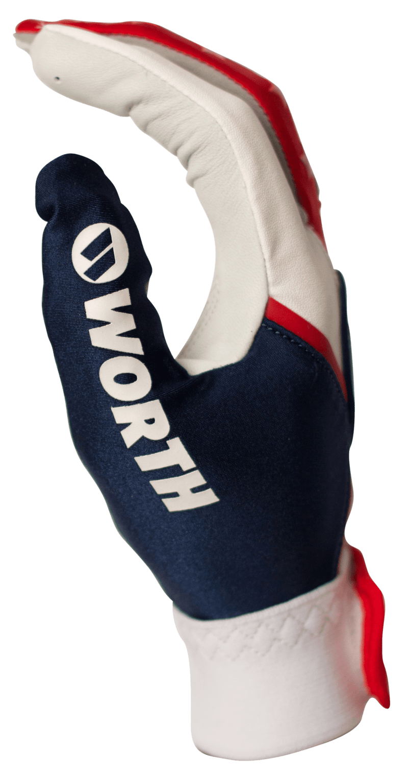 Worth Adult Red, White, and Blue Team Batting Gloves: WBATGL-RWB