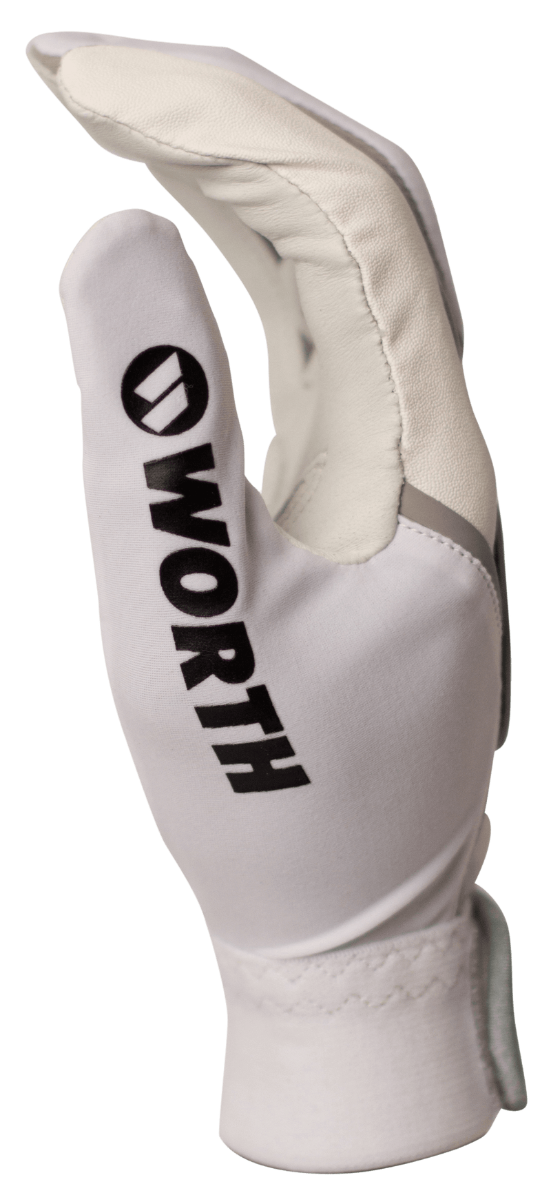 Worth Adult White and Grey Team Batting Gloves: WBATGL-WHT