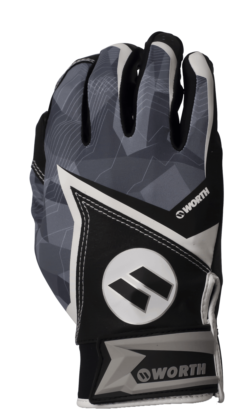 2020 Black Worth Batting Gloves: WBGL20-BLK