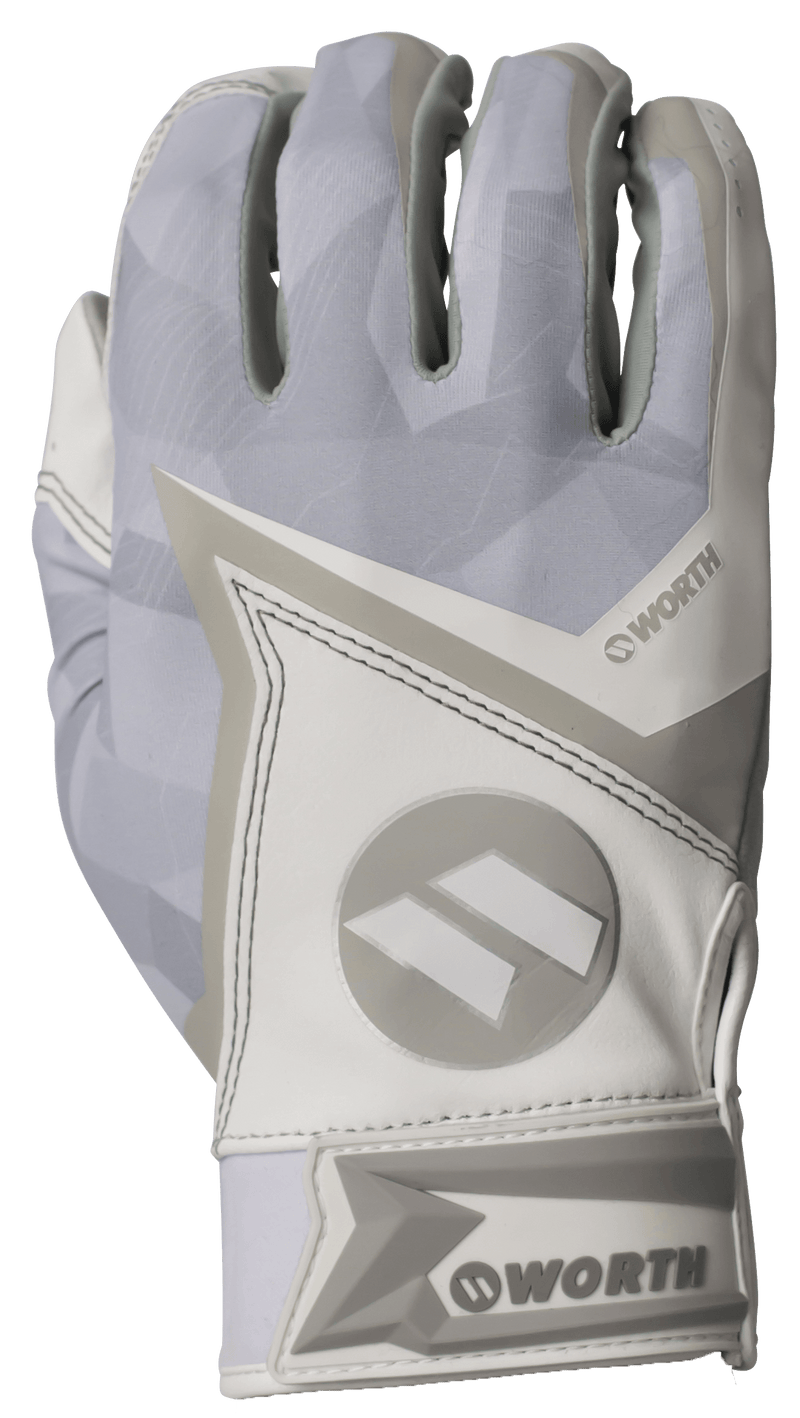 2020 White Worth Batting Gloves: WBGL20-WHT