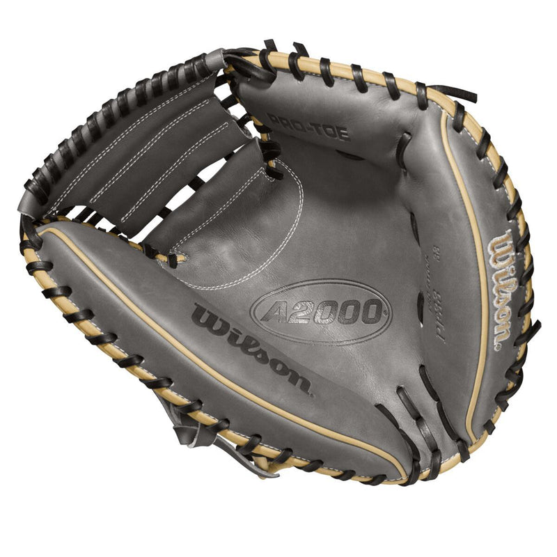 "2021 Wilson A2000 PF33SS SuperSkin Pedroia Fit 33"" Catcher's Mitt: WBW10016233"