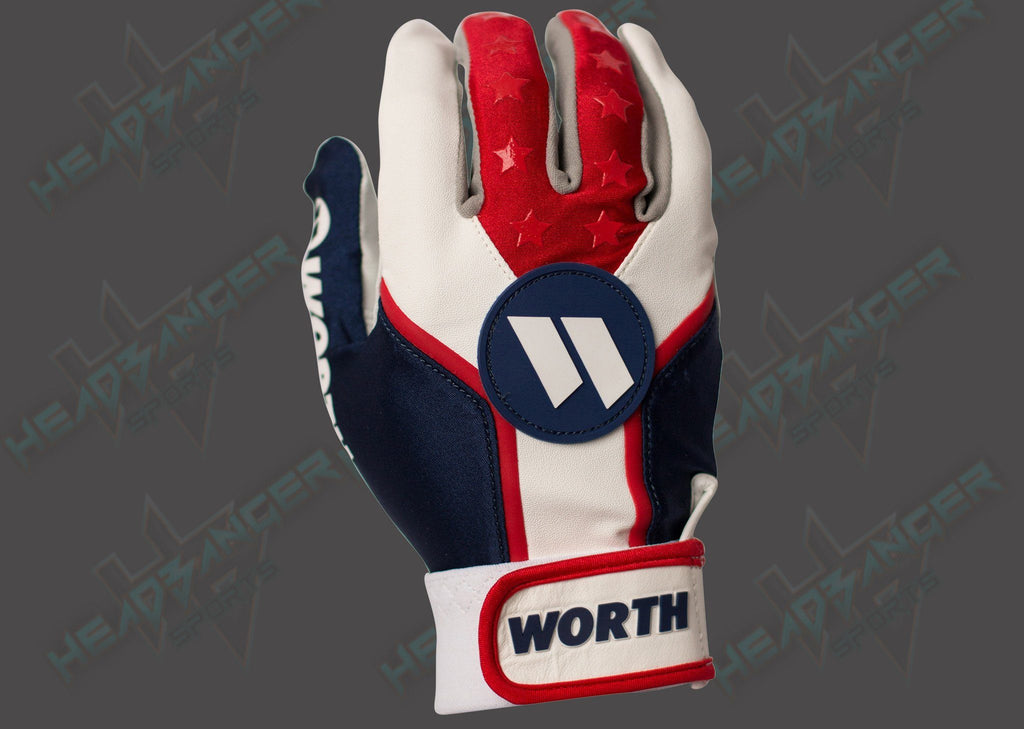 2017 Worth Team Batting Gloves - WBATGL-RWB