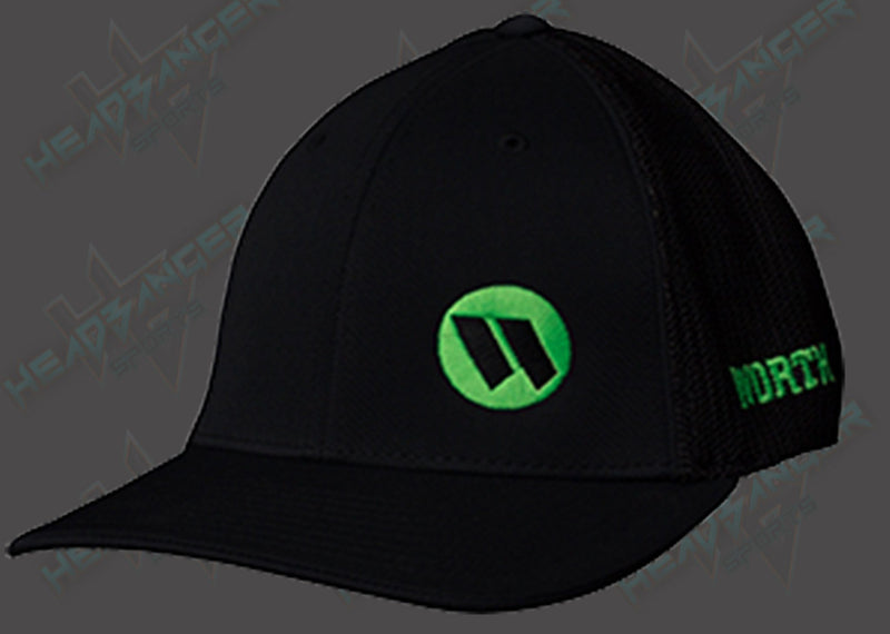 Worth Trucker Mesh Hat Black Green Logo WTRUCK-BLK