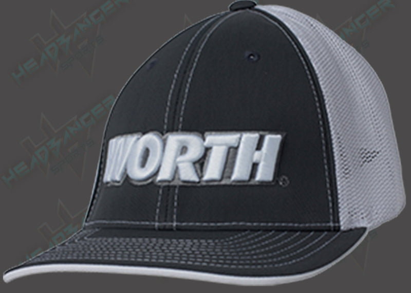 Worth Trucker Mesh Hat (Charcoal/White) WTRUCK-CW