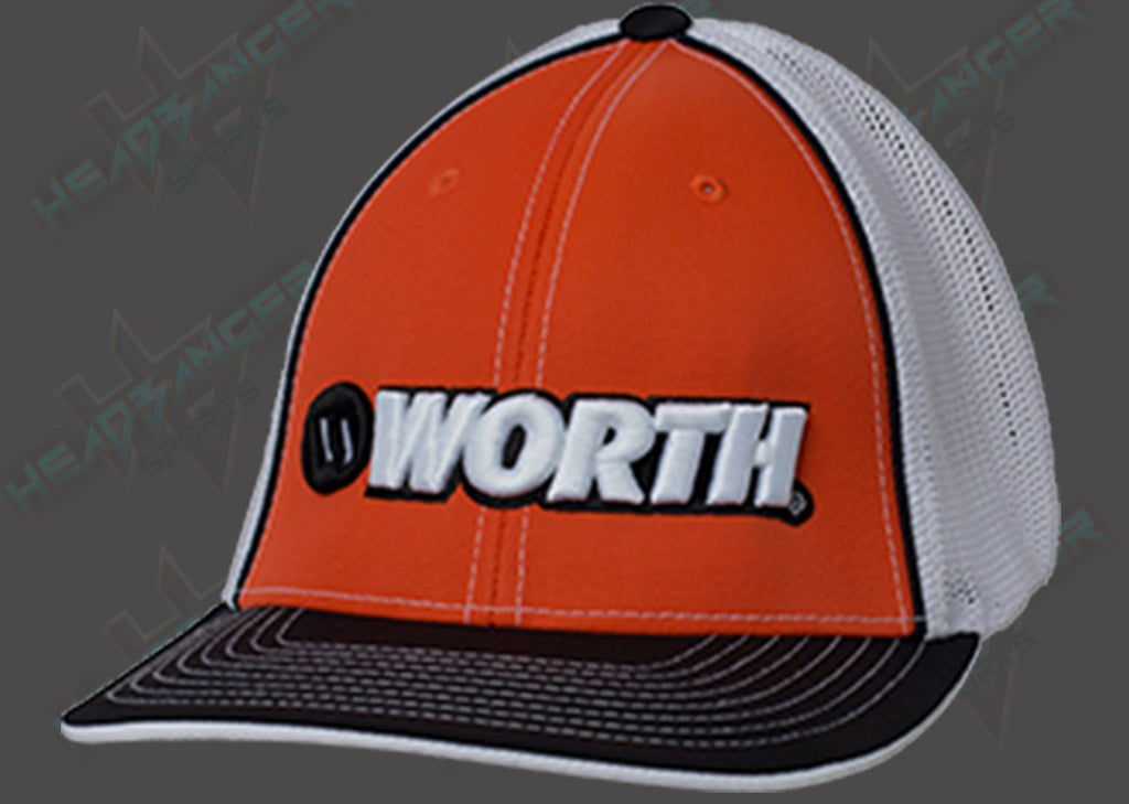 Worth Trucker Mesh Hat (Orange) WTRUCK-ORG