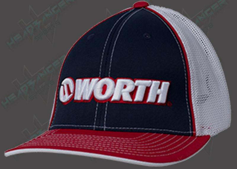 Worth Trucker Mesh Hat (Red/White/Blue) WTRUCK-RWB