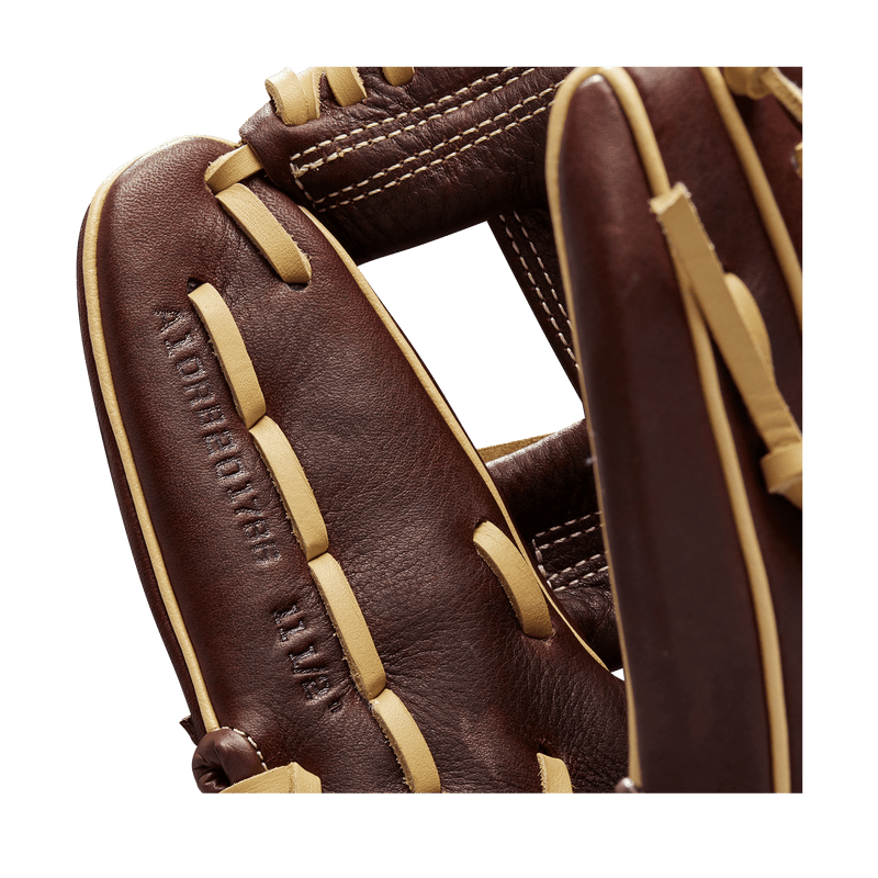 Brown Youth Baseball Glove with Blonde Welting