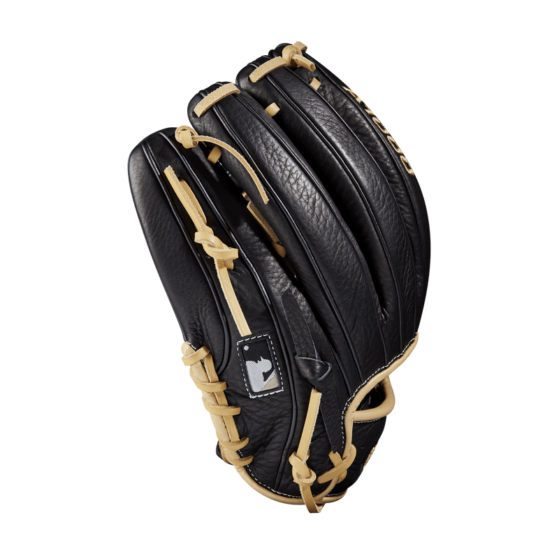 "Blonde Accents on a Black A1000 11.5"" Youth Baseball Glove"