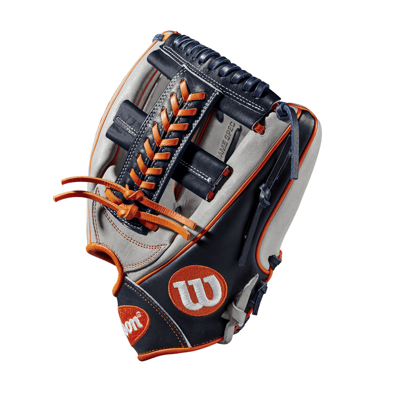 "Side Web View of 2019 Wilson A2000 Carlos Correa 11.75"" Baseball Glove: WTA20RB19CC1GM"
