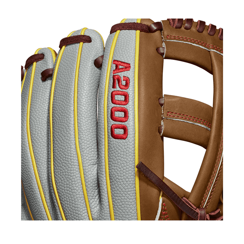 "Super Skin A2000 View of Wilson A2000 Pedroia Fit 11.75"" Dustin Pedroia Baseball Glove: WTA20RB19DP15GM"