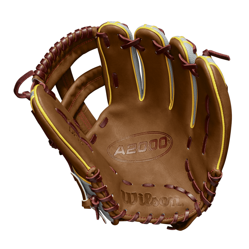 "Inside Palm View of Wilson A2000 Pedroia Fit 11.75"" Dustin Pedroia Baseball Glove: WTA20RB19DP15GM"