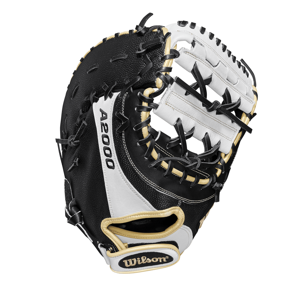 "Web View of Wilson A2000 SuperSkin 12"" Fastpitch Softball First Base Mitt: WTA20RF19FP1BSS"