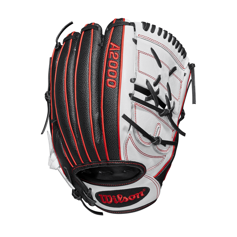 "Back Web View of 2019 Wilson A2000 12.25"" Monica Abbott Fastpitch Softball Glove: WTA20RF19MA14GM"