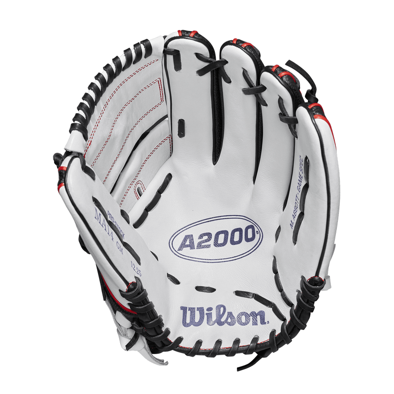 "Palm View of 2019 Wilson A2000 12.25"" Monica Abbott Fastpitch Softball Glove: WTA20RF19MA14GM"