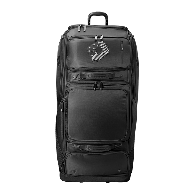 Black DeMarini Special Ops Spectre Wheeled Roller Bag: WTD9412