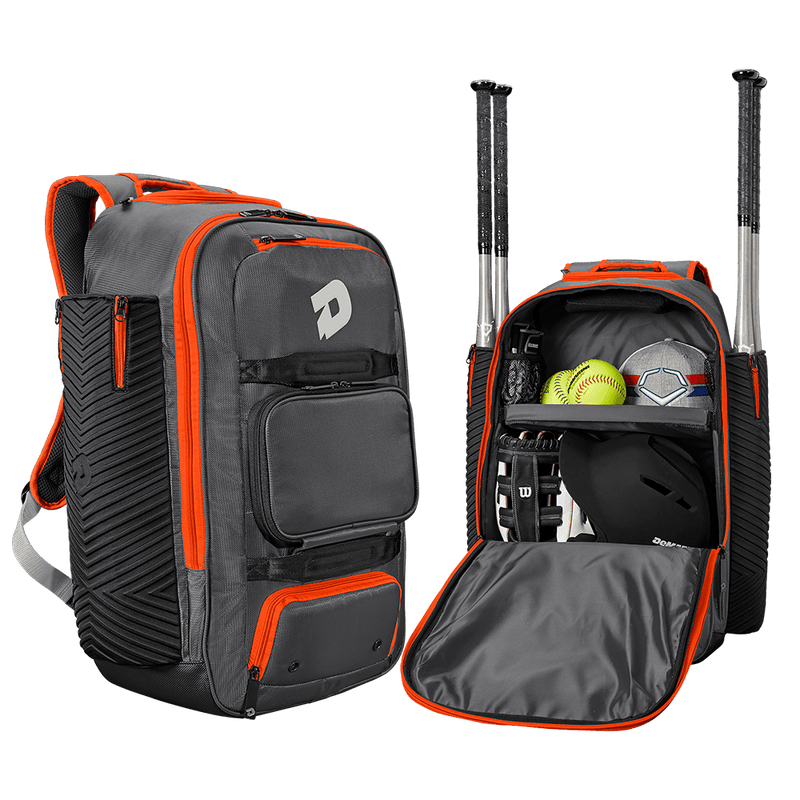 Charcoal and Orange DeMarini Special Ops Spectre Backpack: WTD9410