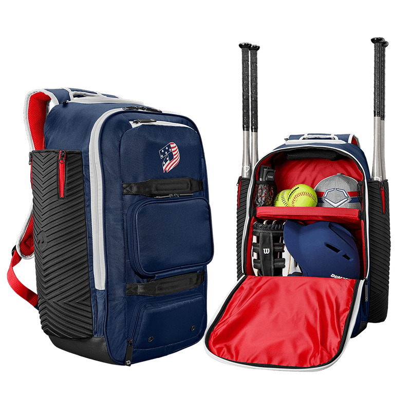 America (Red, White, and Blue) DeMarini Special Ops Spectre Backpack: WTD9410