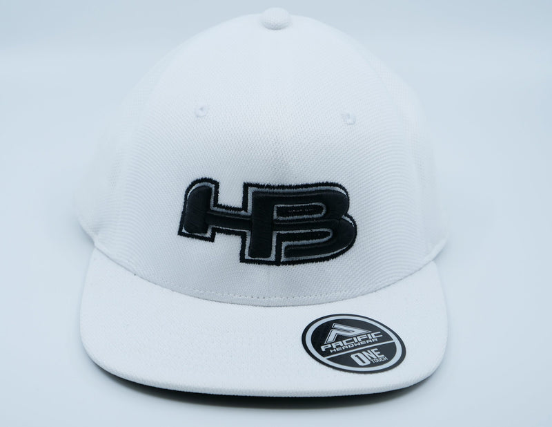 HB Exclusive OTX60 ONETOUCH Fitted Hat: White Noise