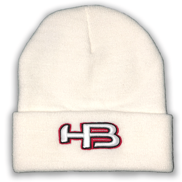 Pacific Custom Winter Hat HB Sports White Logo