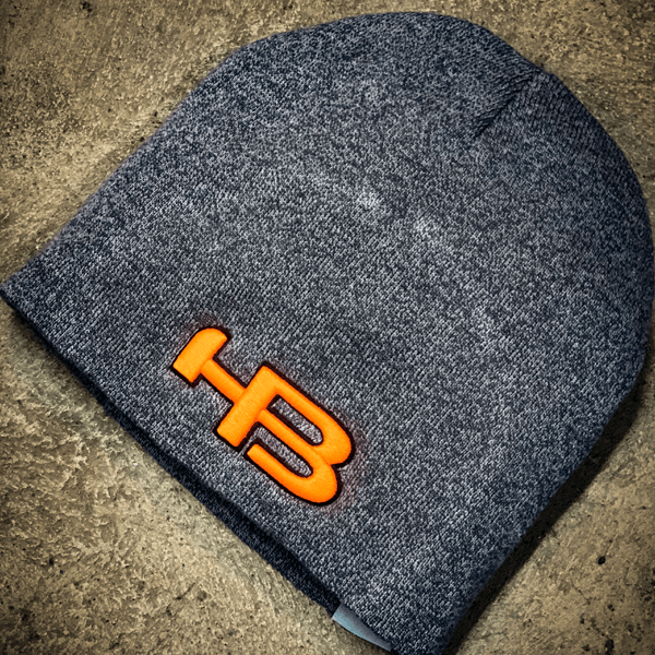 HB Sports Classic Skull Cap Beanie Winter Hat: Neon Orange