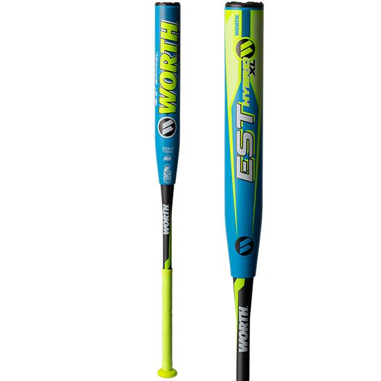 "2019 Worth EST Hybrid XL 12.5"" USSSA Slowpitch Softball Bat: WHY12U at headbangersports.com"