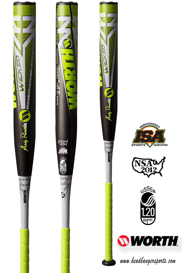 2019 Worth Andy Purcell Wicked XXL USSSA Slowpitch Softball Bat: WKAPXU