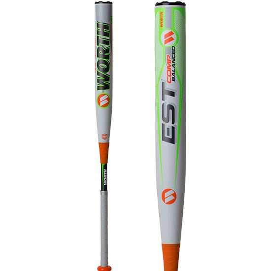 "2019 Worth EST Comp ASA Balanced 13.5"" Slowpitch Softball Bat: WE19BA at headbangersports.com"