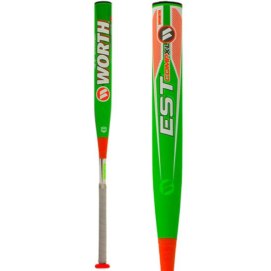 "2019 Worth EST Comp ASA XL 13.5"" Slowpitch Softball Bat: WE19MA at headbangersports.com"