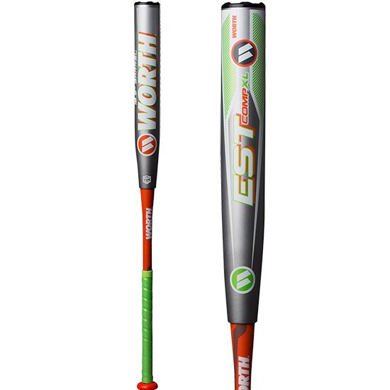 "2019 Worth EST Comp ASA XL 12.5"" Slowpitch Softball Bat: W12XLA at headbangersports.com"