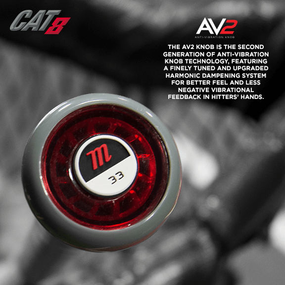 AV2 Technology on the Cat 8 Baseball Bat