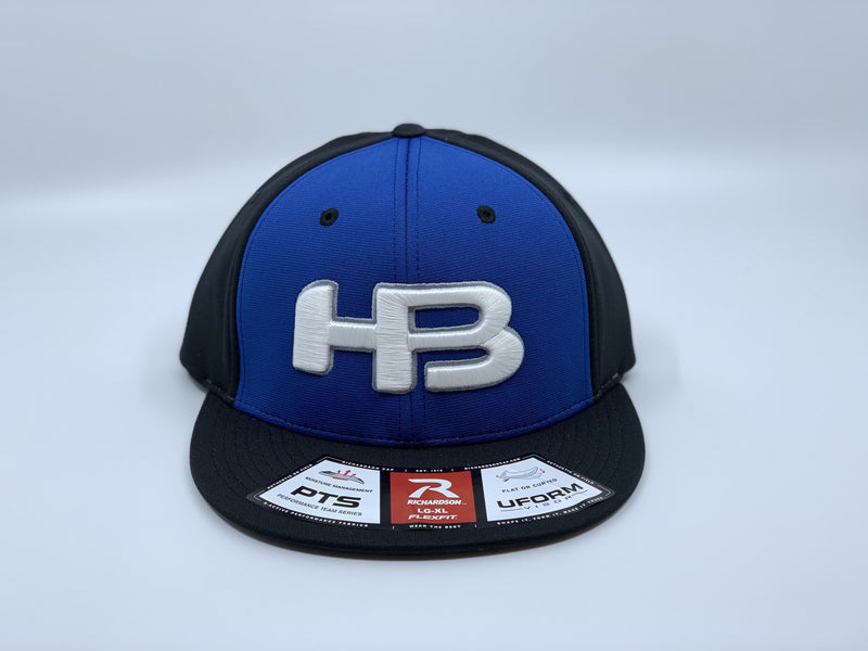 HB SPORTS EXCLUSIVE RICHARDSON PTS20 PULSE R-FLEX HAT: ROYAL / BLACK