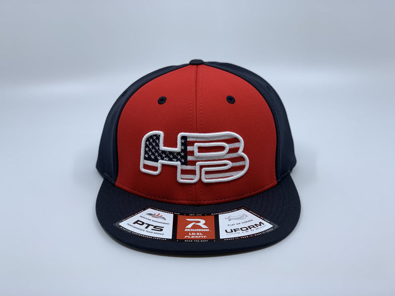 HB SPORTS EXCLUSIVE RICHARDSON PTS20 PULSE R-FLEX HAT: USA