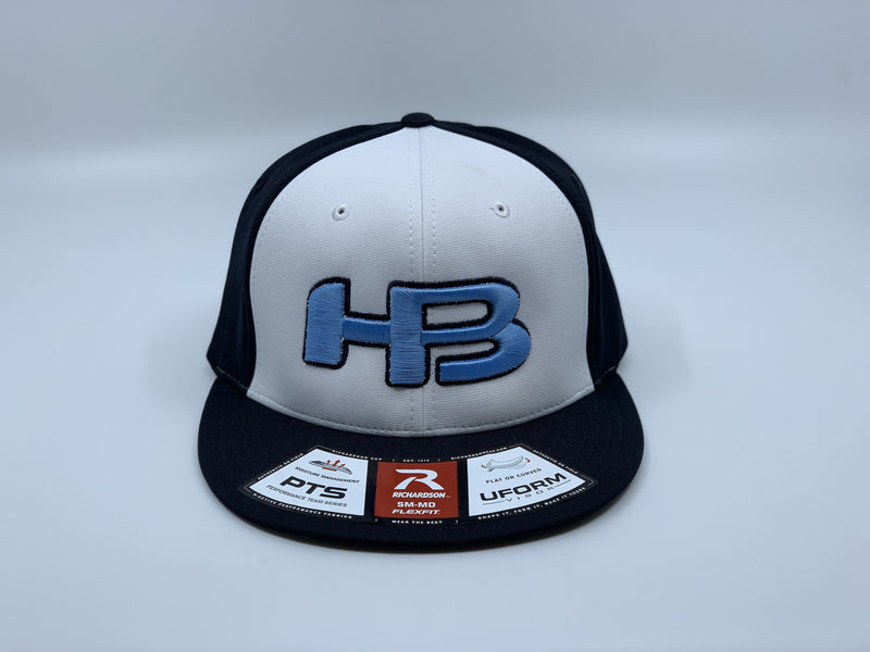 HB SPORTS EXCLUSIVE RICHARDSON PTS20 PULSE R-FLEX HAT: NAVY / WHITE