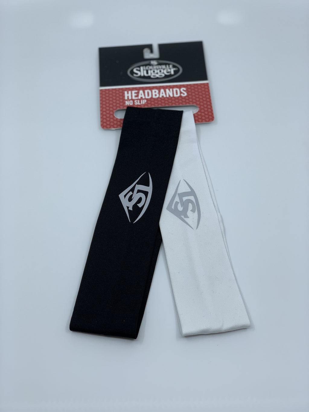 LOUISVILLE SLUGGER HEADBANDS - 2 PACK: BLACK / WHITE