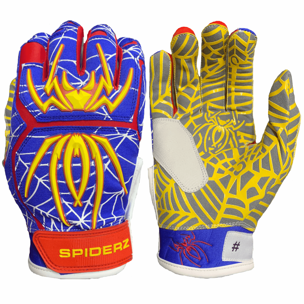 2020 Spiderz HYBRID Batting Gloves: Super Man