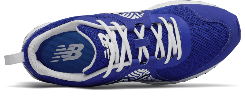 New Balance Men's T3000v5 Baseball and Softball Turf: Royal and White