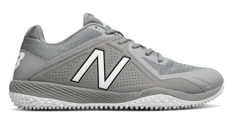 New Balance Grey Mens 4040 V4 t4040ag4 Softball and Baseball Turf at Headbangersports.com.  Youth Models Available