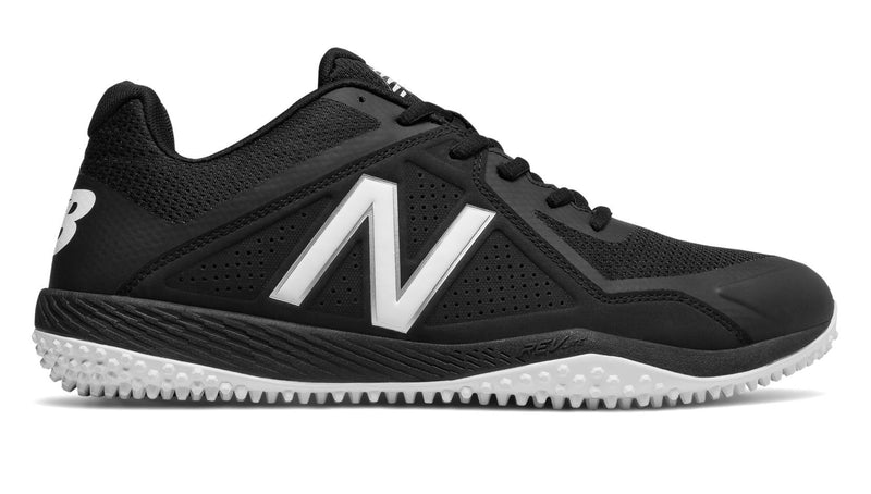 New Balance Black and White Mens 4040 V4 t4040bk4 Softball and Baseball Turf at Headbangersports.com.  Youth Models Available