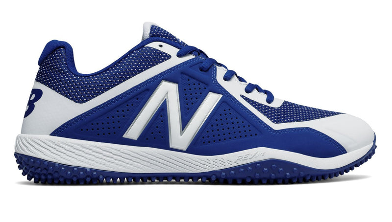 New Balance Royal and White Mens 4040 V4 Softball and Baseball Turf at Headbangersports.com.  Youth Models Available