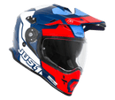 Just 1 J34 Pro Tour Red/Blue Gloss Helmet - MC AUTO