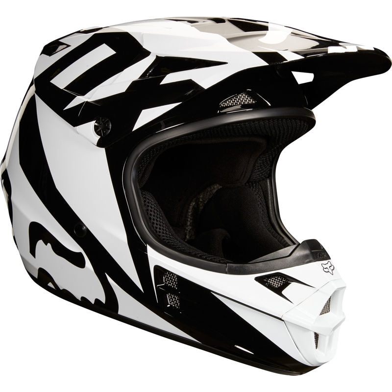 Fox V1 Race Black Helmet