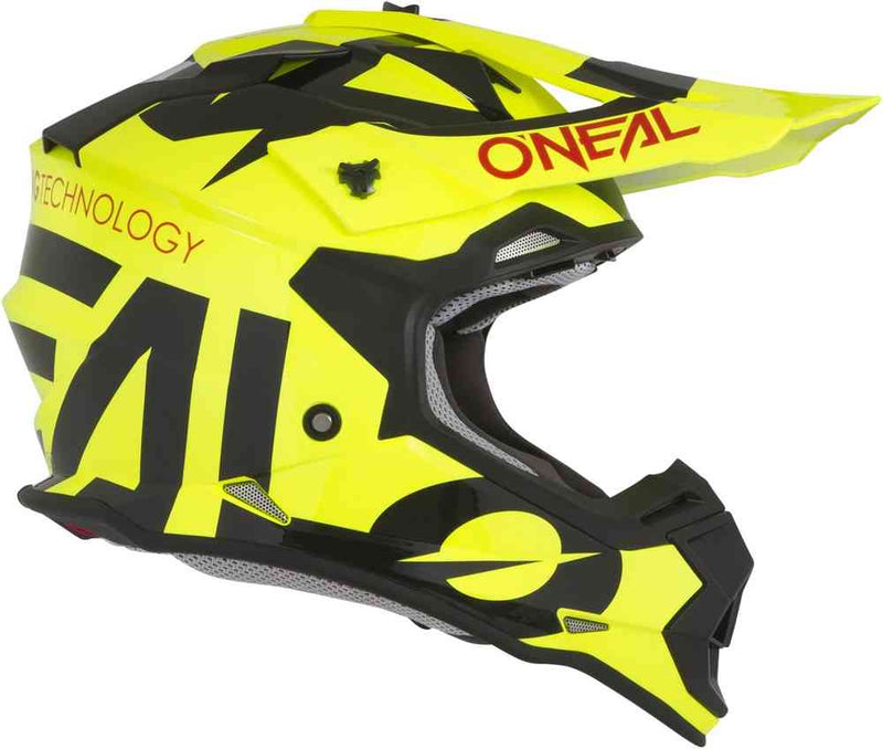 O'Neal Kids 2 Series Slick New Yellow/Black Helmet - MC AUTO