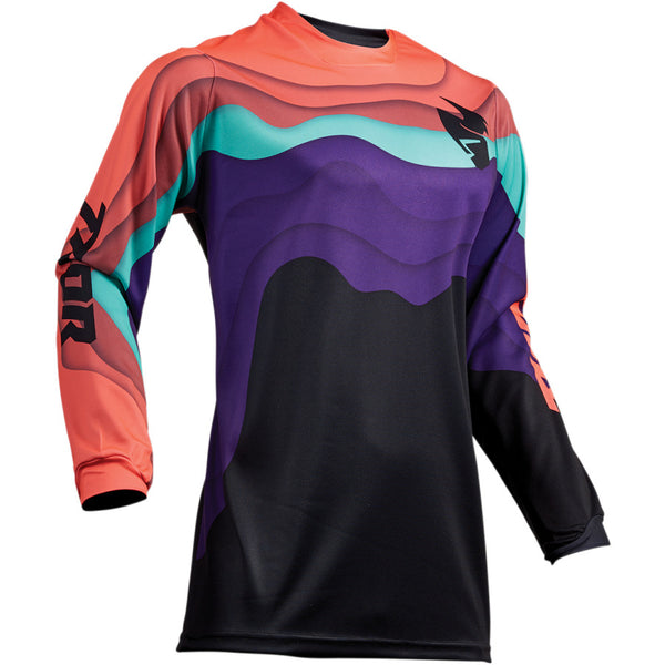 Thor Women's Pulse Depths Black/Coral Jersey