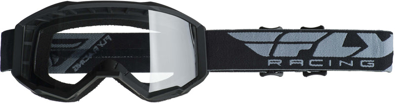 Fly Focus Black/Clear Goggle - MC AUTO