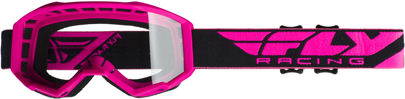 Fly Focus Pink/Clear Goggle - MC AUTO